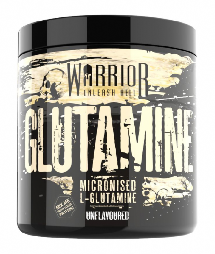 Warrior Glutamine Powder 300g; 60 Servings L-Glutamine; Micronised
